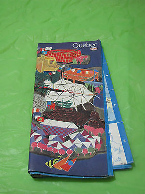 Vintage 1967 Gas and Oil Advertisment Quebec Canada Esso Road Map