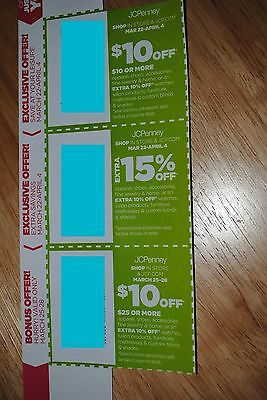 JCPenney coupons - $10 off $10+ in store or online; Extra 15% off; $10 off $25