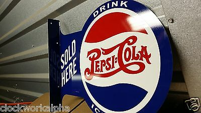 Embossed PEPSI COLA Flange SIGN Soda Crush Cooler Machine Bottle Mobil Coke