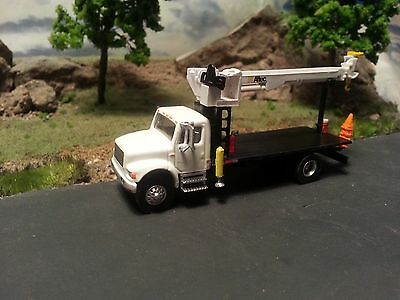 Custom Boley Style Boom Crane Flat Bed Truck 1:87 HO Scale