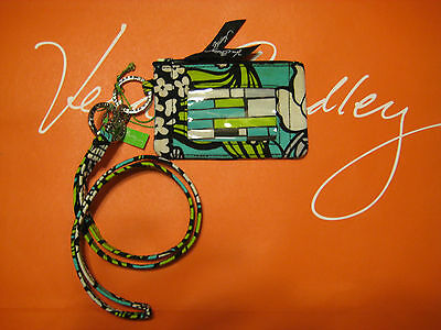 Vera Bradley Zip Id Case and Lanyard in Island Blooms  New with Defects