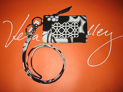 Vera Bradley Zip Id Case and Lanyard in Night & Day  New with Defects