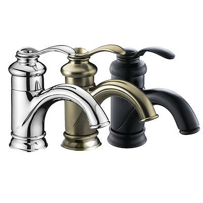"""6"""" Bathroom Sink Faucet Brushed Nickel/Oil Rubbed Bronze/Chrome One Hole/Handle"""