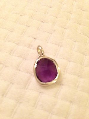 Monica Vinader Purple Amethyst Sterling Silver Pendant New (without chain)