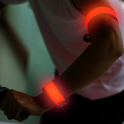Hi-Go Snap LED Bracelet for running cycling runners cyclers - ORANGE LIGHT