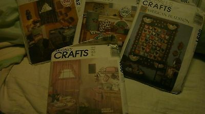 McCall's Home Decorating Sewing Patterns Lot (4)