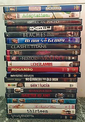 Lot Of 20 Dvds Hits, Mixed Genre Comedy Drama Thriller Movies
