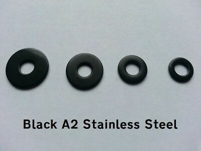 A2 BLACK Stainless Steel M8 Penny/Mudguard/Repair Washers