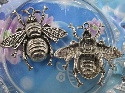 lot 5pcs Retro style bees alloy charms jewelry pendant 40x37mm