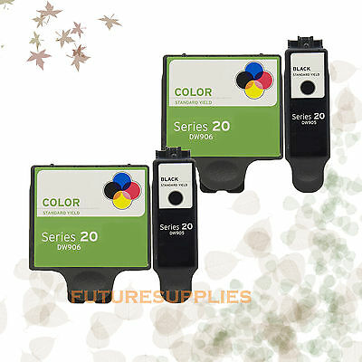 4PK Compatible Ink DW905 DW906 for Dell DW905 DW906 Series 20 P703w NO TAX!