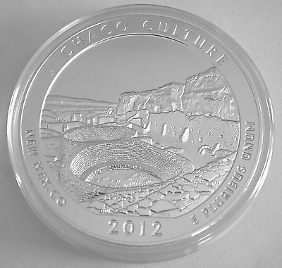 2012 5 OZ AMERICA THE BEAUTIFUL CHACO CULTURE  NATIONAL PARK SILVER ROUND