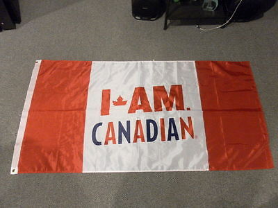 Molson Canadian Beer I am Canadian Flag