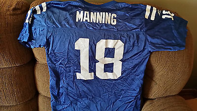INDIANAPOLIS COLTS PEYTON MANNING  FOOTBALL JERSEY SIZE  XL #18YOUTH ADIDAS