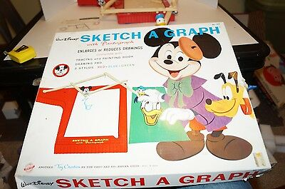 Vintage Walt Disney Sketch a Graph Mickey Mouse Donald Duck Art