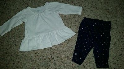 Old Navy baby girl outfit size 3-6 months EUC