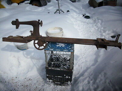 ANTIQUE HOMEMADE( SINGER SEWING MACHINE) WOOD LATHE. SIMPLY AWESOME!!!
