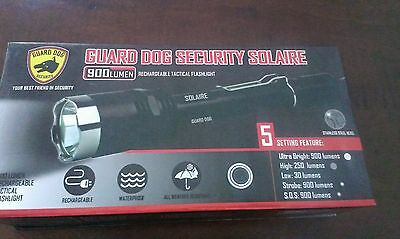 Guard Dog Solaire 900 Lumen Rechargeable Tactical Flashlight