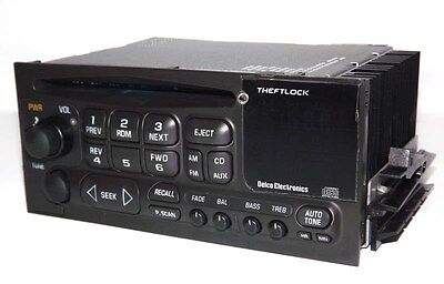 2001 Chevy Silverado 1500 AM FM CD Player Radio Upgraded w Aux mp3 Input in Face