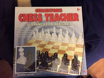 Chess Teacher - Collector's - A learning set for the beginner   Ages 6+ Unopened