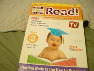 YOUR BABY CAN READ Robert Titzer,  Vol. 2 DVD & Word Card Set 815197010013 KIDS