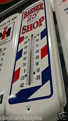 Barber shop Metal THERMOMETER Bottle Cap COKE Cooler Vintage Style Sign Mobil