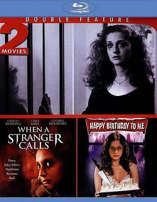 When A Stranger Calls / Happy Birthday To Me Blu-ray Disc New Sealed 2 Movies