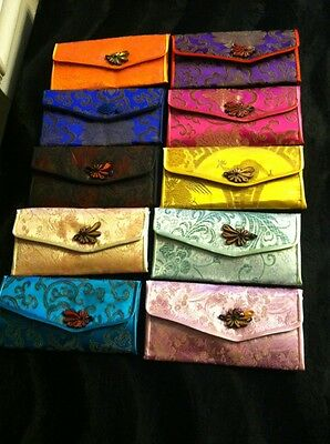 Oriental Silk Brocade Purse Accessory /Billfold 10 Color/Set