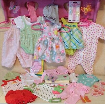 Baby Girl NEWBORN Spring & Summer outfits large lot of 24 dresses shorts onsies