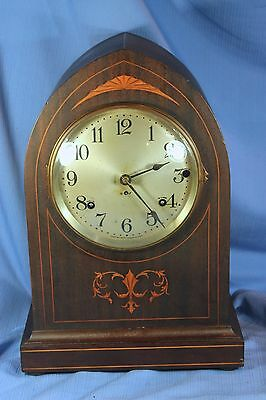 SETH THOMAS ANTIQUE SONORA CHIME MANTLE CLOCK CHIMES ON TUNED BELLS SUPERIOR!