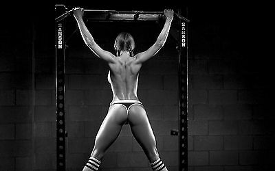 SPORT SEXY GIRL HOT WEIGHTLIFTING GYM FITNESS SSW02 WALL Poster PRINT A2,A3,A4