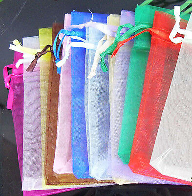 30Pcs Organza Jewelry Packing Pouch Wedding Favor Gift Bags 12x10cm
