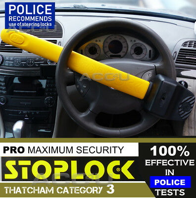 StopLock PRO Thatcham Category 3 Security Anti Theft Car Van Steering Wheel Lock
