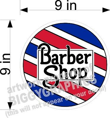"BARBER SHOP STYLIST HAIRDRESSER STORE FRONT VINYL DECAL STICKER  9"" TALL"