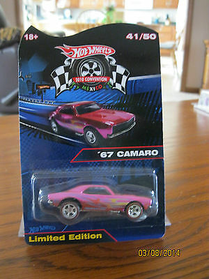 HOT WHEELS 2010 MEXICO CONVENTION 67 CAMARO  41/50 LIMITED EDITION