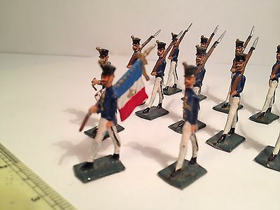 Vintage Toy Lead Soldiers -Flats - French Infantry - Late 1960s