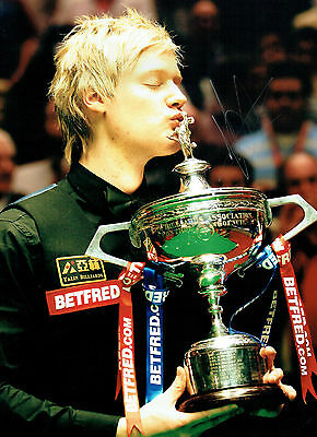 Neil ROBERTSON Signed Autograph 16x12 Photo World SNOOKER Champion AFTAL COA