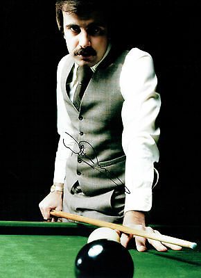 Willie THORNE Signed Autograph 16x12 Photo World SNOOKER Crucible AFTAL COA