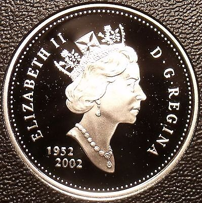 Rare Cameo Silver Proof Canada 2002 25 Cents~21,573 Minted~50th Anniv~Free Ship
