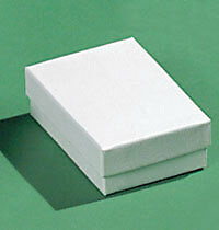 Case of 100 White Swirl Jewelry Boxes 3 x 2 x 1 inch
