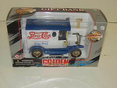 DIE CAST SPECIAL EDITION METAL GIFT COIN BANK GOLDEN CLASSIC DRINK PEPSI COLA