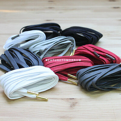 "Flat WAX Laces with Gold or Black Aglets - Shoelaces - 5 colors - 51"" - 130cm"