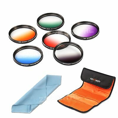 58MM Graduated Color Filter Kit for Canon EOS 1100D 1000D 650D 600D 18-55mm Lens