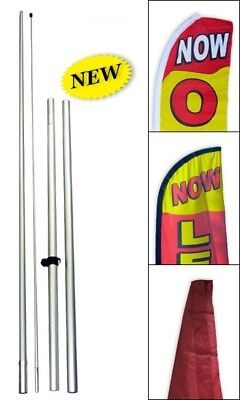 UNIVERSAL Hybrid Swooper Pole for Tall Flutter Advertising Curved Top Flag