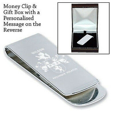 Coat of Arms Family Crest Any Surname Money Clip