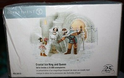 Department 56, Crystal Ice King and Queen #56.58976