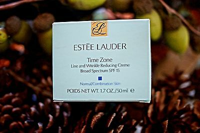 ESTEE LAUDER TIME ZONE 1.7 OZ SPF 15 ANTI LINE AND WRINKLE REDUCING CREME IN BOX