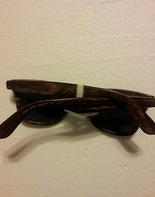 AMERICAN EAGLE OUTFITTER WOMEN SUNGLASSES CAT EYE  BROWN WOODY FRAME NEW