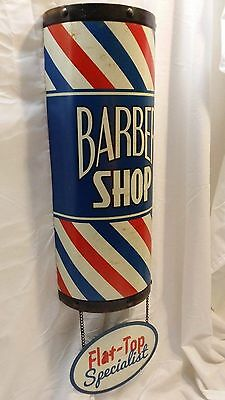BARBER SHOP POLE Flat Top SIGN Shave Oster Clippers Hair Comb Nail Polish Mobil