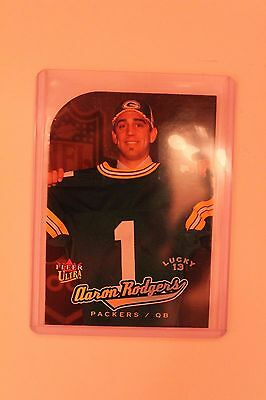 2005 FLEER ULTRA  GOLD MEDALLION LUCKY 13 RC DIE CUT AARON RODGERS ROOKIE
