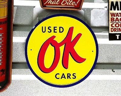 USED Ok parts  SIGN Gas Pump Motor Oil Can Texaco Mobil Roar Sinclair